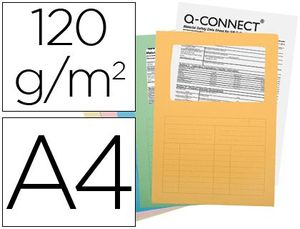 SUBCARPETA CON VENTANA Q-CONNECT A4 SURTIDAS PAQ 25 UD