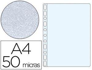 FUNDA MULTITALADRO Q-CONNECT DIN A4 50 MC PIEL DE NARANJA CAJA DE 100 UNIDADES