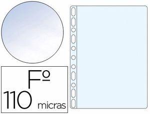 FUNDAS MULTITALADRO Q CONNECT Fº  PVC CRISTAL CAJA 100 UD