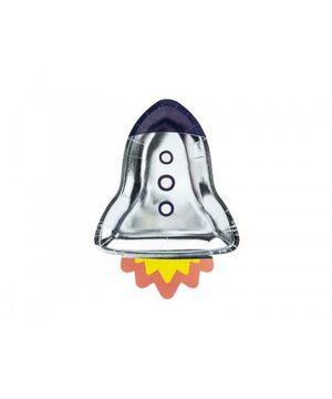 PLATOS PAPEL SPACE PARTY 21,5 X 29,5 CM PAQ 6 UD