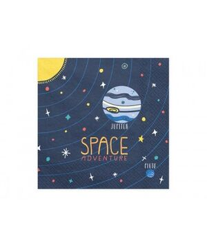 SERVILLETAS SPACE PARTY 33X33 B-20