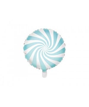 GLOBO FOIL BALLOON CANDY 45 CM LIGHT BLUE