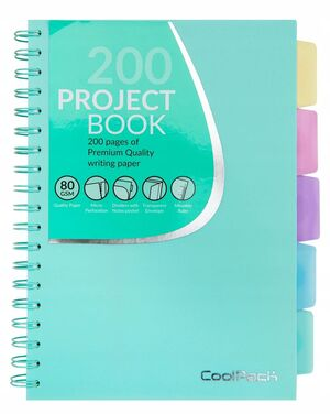 CUADERNO ESPIRAL 5X5 A5 COOLPACK PROYECT BOOK VERDE