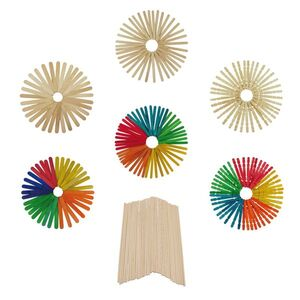 PACK 50 PALOS DE MADERA COLOR FINOS