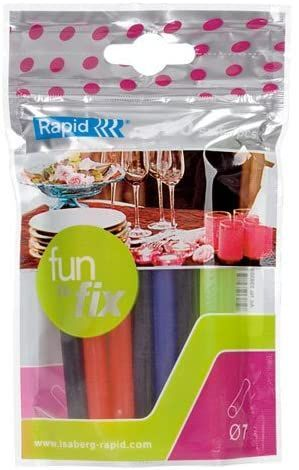 BARRAS SILICONA COLA FUN B-20 STICKS COLORES