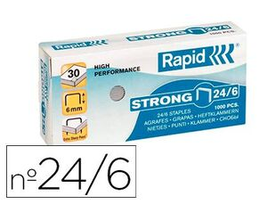 GRAPAS RAPID 24/6 1MM GALVANIZADA STRONG CAJA 1000 UD