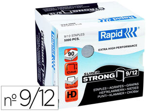 GRAPAS RAPID SUPER STRONG GALVANIZADAS Nº9/12 CAJA DE 5000 UNIDADES