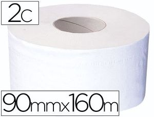 PAPEL HIGIENICO MINI JUMBO 2 CAPAS 160 MT PARA DISPENSADOR T2