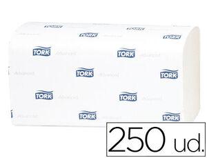 TOALLA DE PAPEL ENGARZADA 2 CAPAS 21,8X23 CM PAQUETE DE 250 UNIDADES PARA DISPENSADOR H3