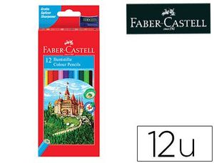 CAJA 12 LAPICES COLORES FABER-CASTELL HEXAGONAL
