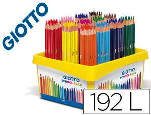 LAPICES DE COLORES GIOTTO STILNOVO SCHOOL PACK DE 192 UNIDADES 12 COLORES X 16 UNIDADES
