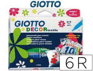 GIOTTO DECOR TEXTILE ESTUCHE 6 UD