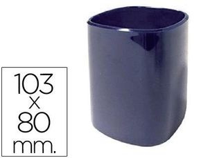 CUBILETE PORTALAPICES 102-A PLASTICO AZUL 103X80 MM