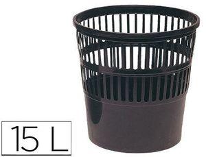PAPELERA PLASTICO 119 NEGRA MEDIDA 27.5X27.5 CM