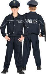 DISFRAZ OFICIAL POLICIA TALLA 5-7 AÑOS 128 CM.
