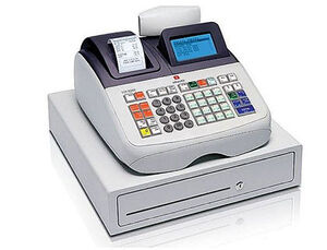 REGISTRADORA OLIVETTI ECR 8200 PROFESIONAL DISPLAY LCD GRAFICO 99 DEPARTAMENTOS FUNCION ESPECIFICA