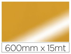 PAPEL FANTASIA COLIBRI DOBLE METALIZADO ORO BOBINA 600 MM X 15 MT