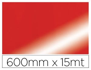 PAPEL FANTASIA COLIBRI DOBLE METALIZADO ROJO BOBINA 600 MM X 15 MT