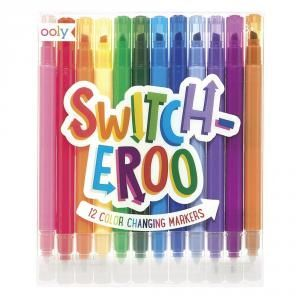 SET 12 ROTULADORES CAMBIAN COLOR SURTIDOS OOLY SWITCH-EROO