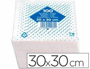 SERVILLETA ALGODON 30X30 CM -2 CAPAS -PAQUETE DE 100
