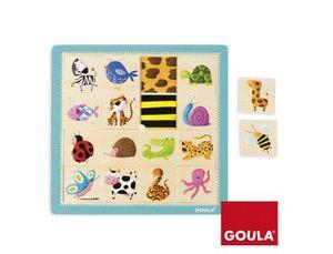 PUZZLE TEXTURAS ANIMALES 16 PIEZAS