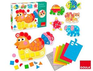 JUEGO GOULA DIDACTICO ANIMAL STICKERS FOAM