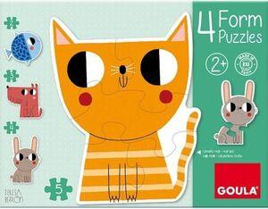 FORM 4 PUZZLES PROGRESIVOS ( 2,3,4,5 PIEZAS )