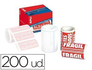 ETIQUETAS FRAGIL APLI 50X100 MM ROLLO 200 UD