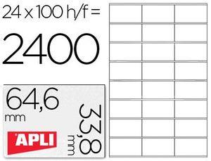 ETIQUETAS A4 I/L/C BLANCAS 64,6X33,8 100 HJ