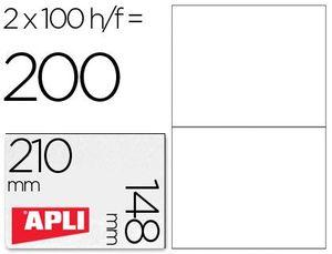 ETIQUETAS A4 I/L/C BLANCAS 210X148 100 HJ APLI