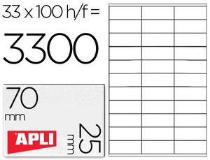 ETIQUETAS A4 I/L/C BLANCAS 70X25,4 100 HJ