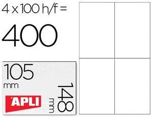 ETIQUETAS A4 I/L/C BLANCAS 105X148 100 HJ