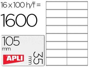 ETIQUETAS A4 I/L/C BLANCAS 105X35 100 HJ