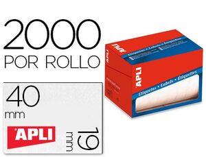 ROLLO 2000 ETIQUETA ADHESIVA APLI 19X40 MM