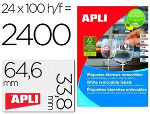 ETIQUETAS A4 I/L/C BLANCAS REMOV. 64,6X33,8 100 HJ
