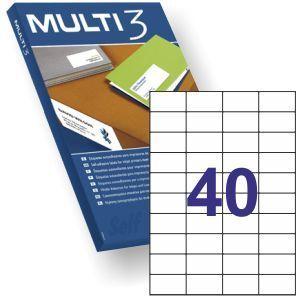 MULTI3 ETIQUETAS ADHESIVAS 52,50X29,7 CAJA 100 HJ