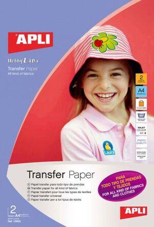 BLISTER PAPEL TRANSFER TEXTIL A4 2 HJ