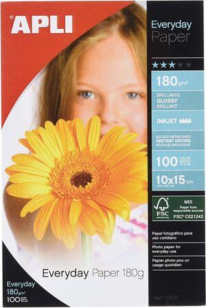 PAPEL EVERYDAY 10X15 180GR BLISTER 100 HJ