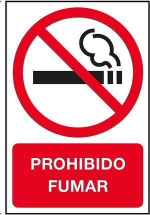 CARTEL PROHIBIDO FUMAR INT 180X120 2 HJ