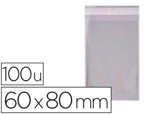 BOLSA PP 60X80 MM TRANSP ADHESIVO 100 UD