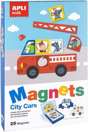 CAJA MAGNETICO COCHES 25 UD