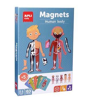 CAJA PUZLE MAGNETICO EL CUERPO HUMANO 63 UD