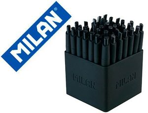 BOLIGRAFO MILAN P1 RETRACTIL 1 MM TOUCH MINI NEGRO EXPOSITOR DE 40 UNIDADES