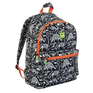 MOCHILA ESCOLAR DOBLE MILAN MILLION YEARS AGO NEGRO 20 L
