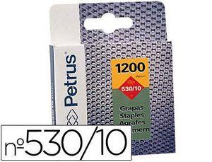 CAJA 1200 GRAPAS PETRUS Nº 530/10 COBREADAS