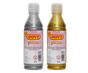 TEMPERA GLITER JOVI ORO BOTELLA 250 ML