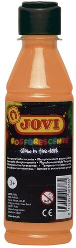 BOTELLA TEMPERA JOVI 250 ML FLUOR NARANJA