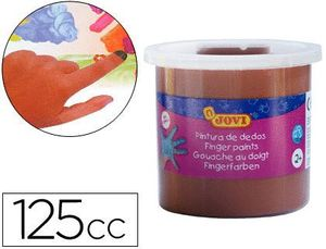 PINTURA DEDOS JOVI MARRON BOTE 125 ML