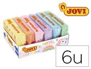 BANDEJA 6 PLASTILINAS JOVI 50 GR COLORES PASTEL