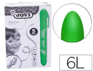 BARRA DE MAQUILLAJE JOVI TWIST MAKE-UP VERDE CAJA DE 5 UNIDADES